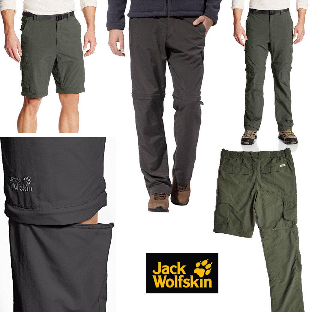 Jack Wolfskins Light Weight Cargo Zip Off Pants