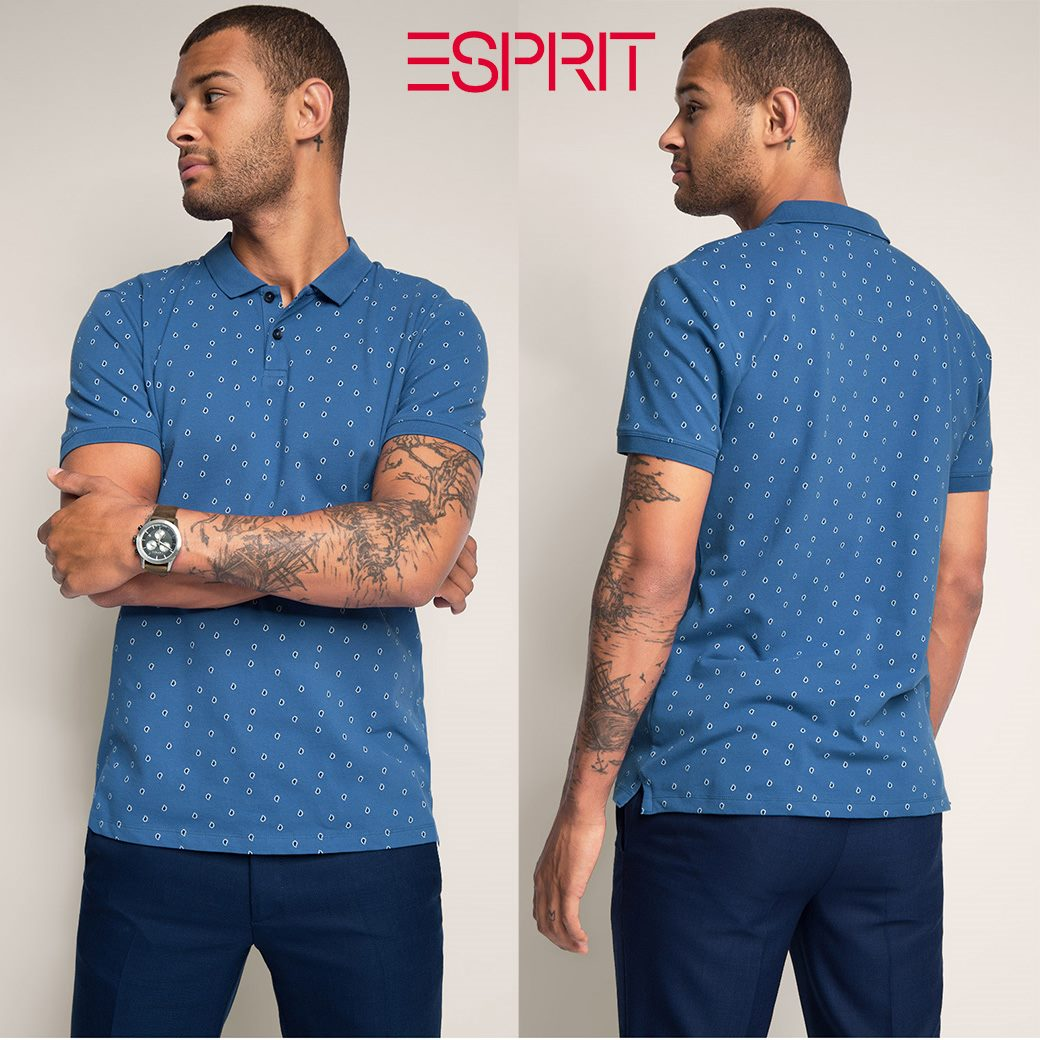 ESPRIT PRINTED SLIM POLO