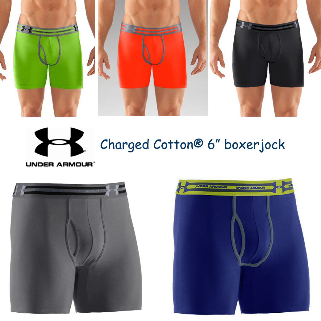 UNDER ARMOUR CHARGED COTTON BOXERJOCK
