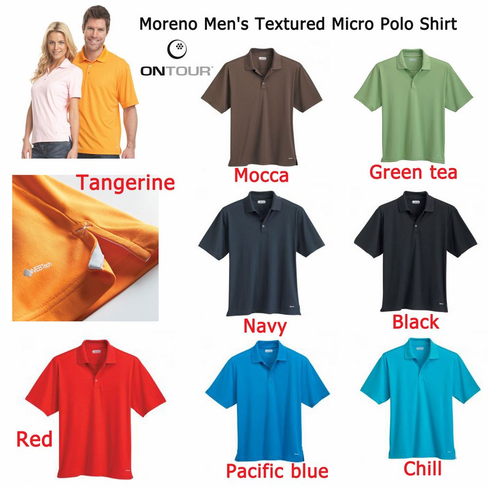 On Tour Moreno Men's Textured Micro Polo