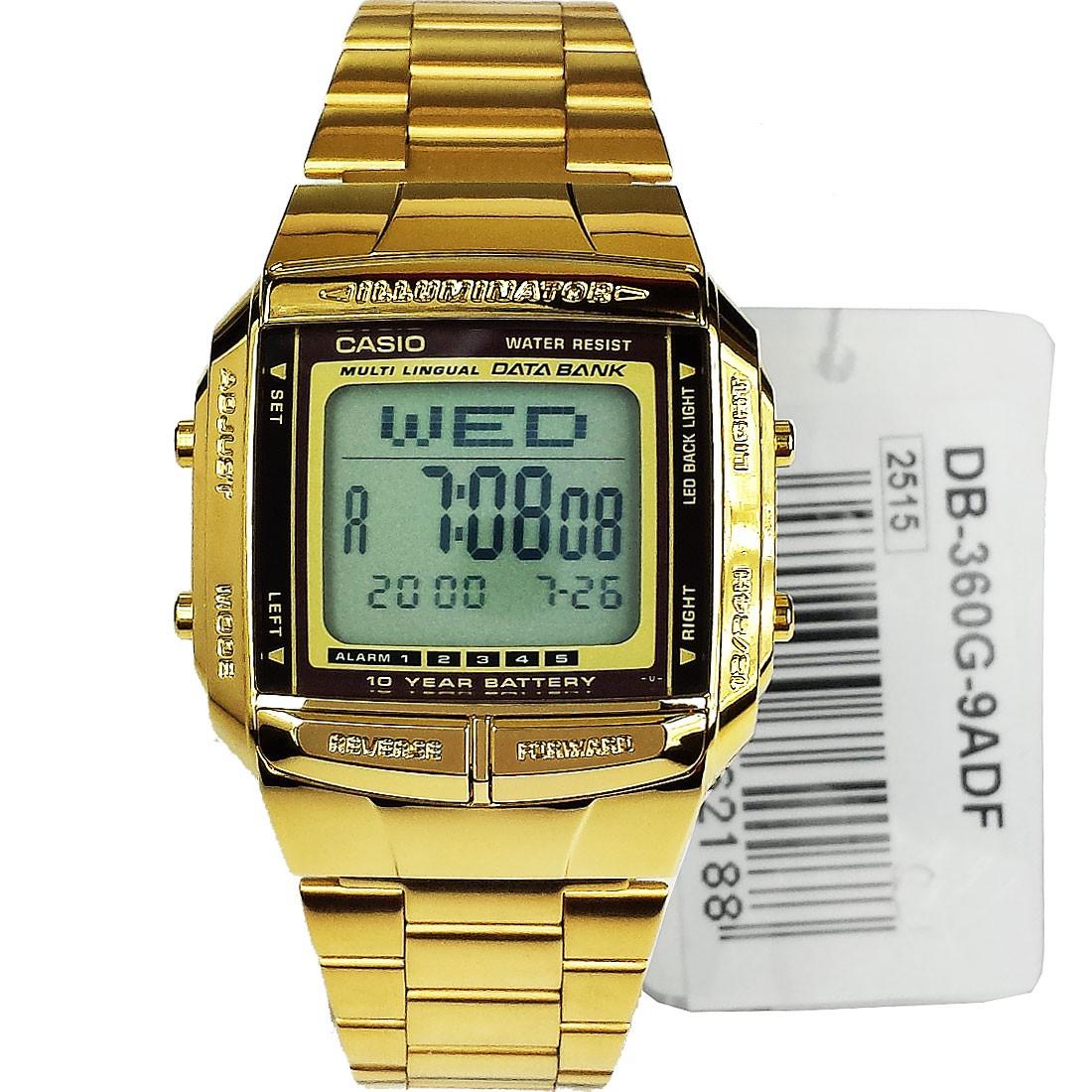 Casio Digital Gold Tone DB360G-9ADF