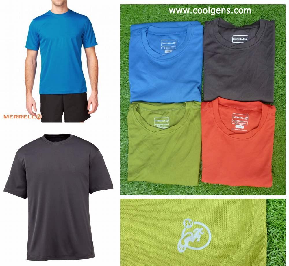 Merrel Opti-wick T-shirt ( มีสกรีนชายเสื้อ ด้านหลัง )