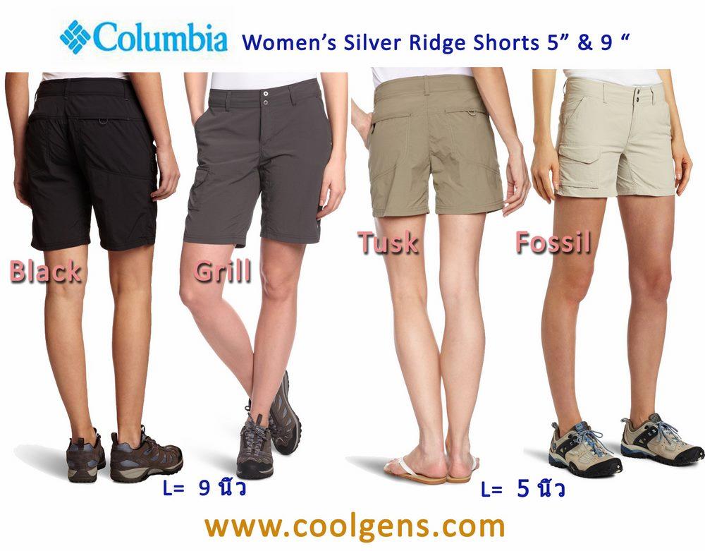 "COLUMBIA Women 's Silver Ridge Shorts 5"" & 9"" ( ขอบเอวปรับได้ )"