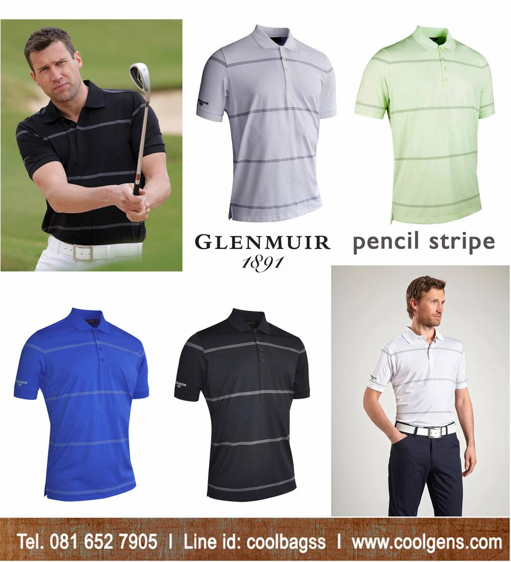 Glenmuir Pencil Stripe Polo Shirt