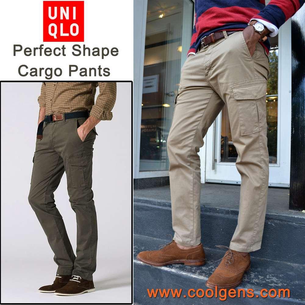 Uniqlo men's perfect shape cargo pants