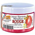 Deco-relief - FOOD COLORING METALLIC RED -25G ( CH153)