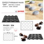 "PX4301S Professional moulds 400*300 ""Zen"" 12 indents"