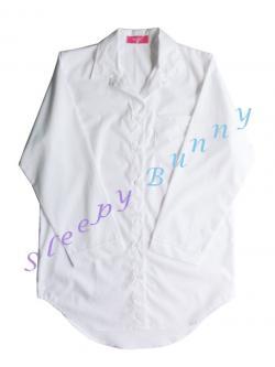 ds38X lot4 ชุดนอนเดรสเชิ้ตไซส์ใหญ่ สีขาวออฟไวท์ พร้อมส่ง Size L --> Pajamazz