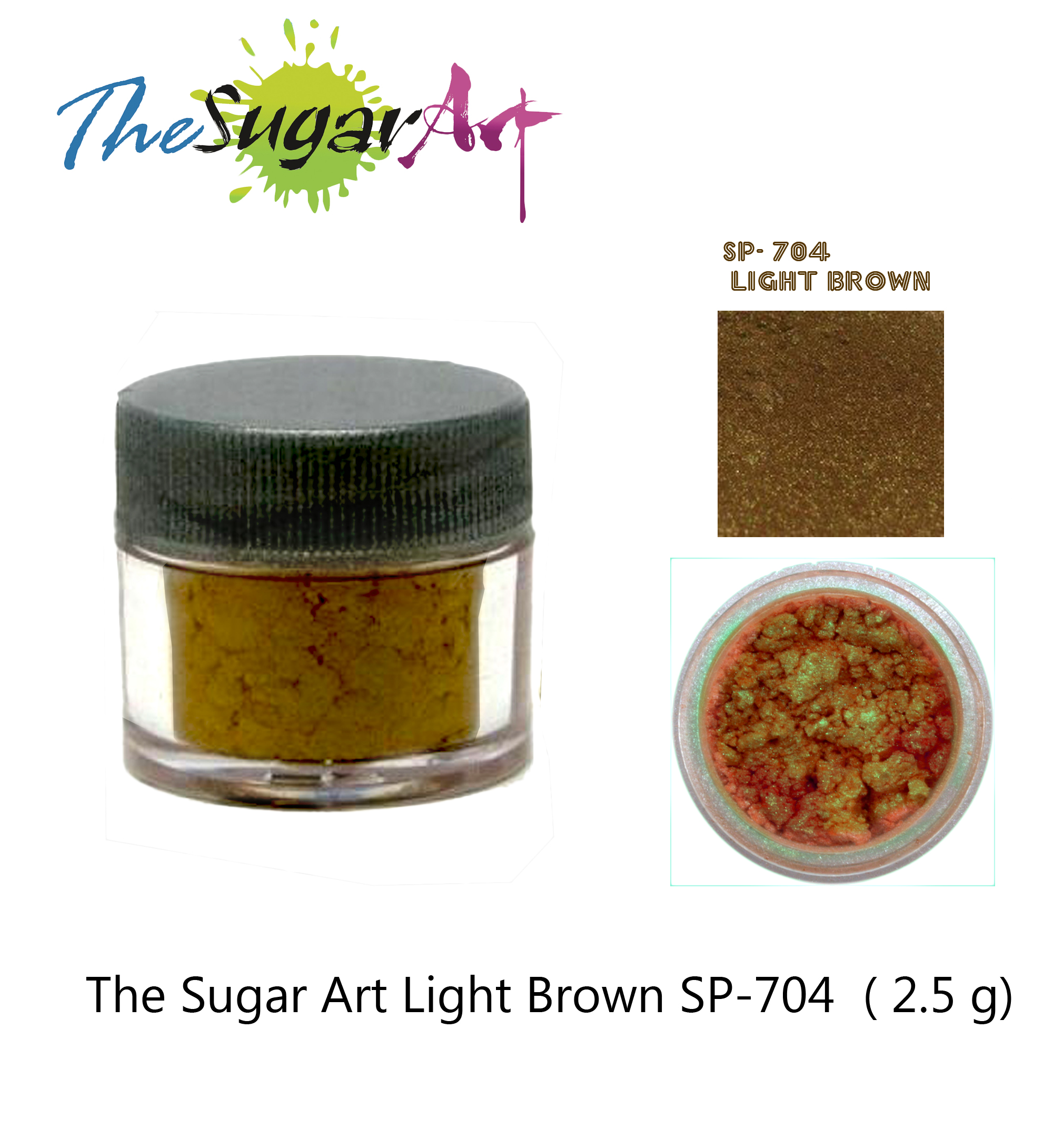 The Sugar Art Light Brown SP-704 (2.5 g.)