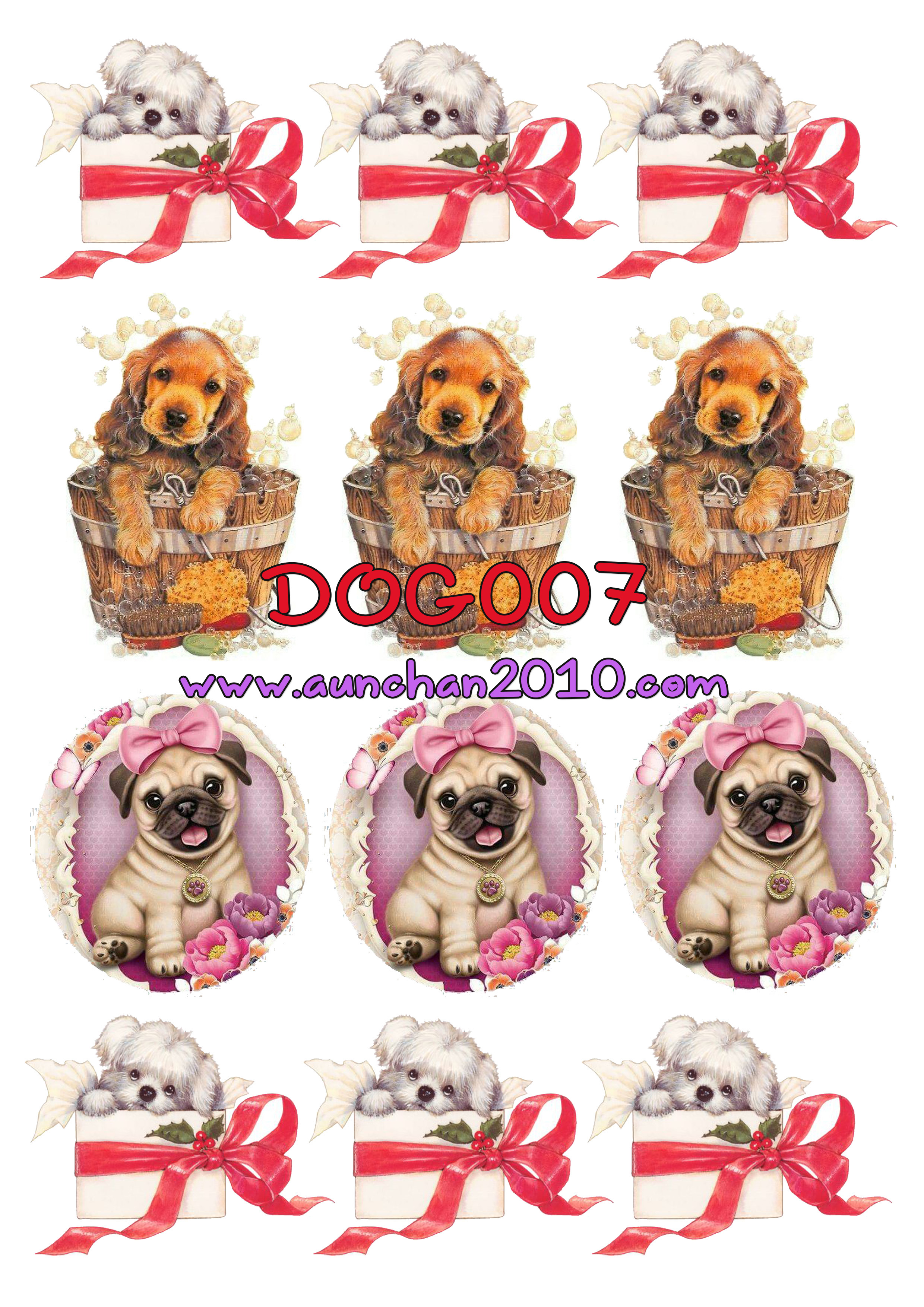 DOG007 กระดาษแนพกิ้น 21x30ซม. ลายสุนัข