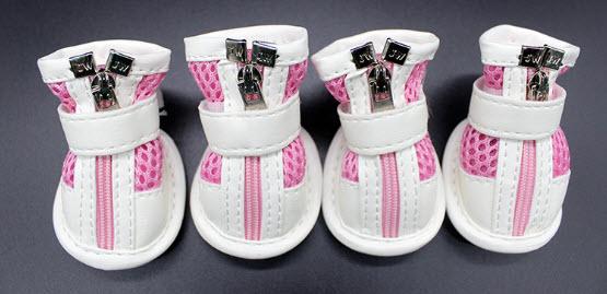 รองเท้าสุนัขโต สีชมพู (4 ข้าง)