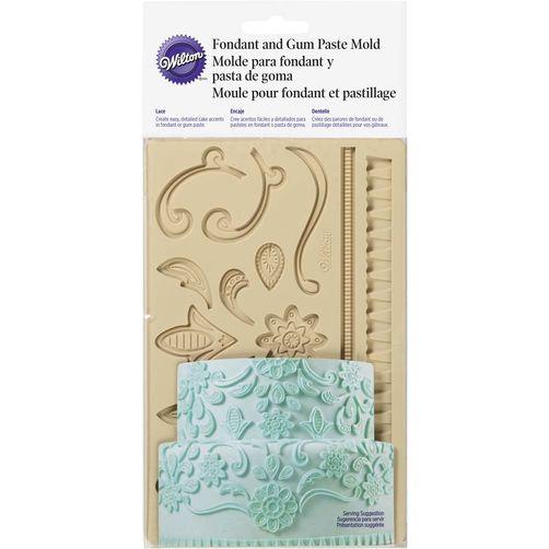 Wilton fgp mold lace พิมพ์ซิลิโคนทำฟองดอง ( 409-2557 ) / LACE FONDANT & GUM PASTE MOLD