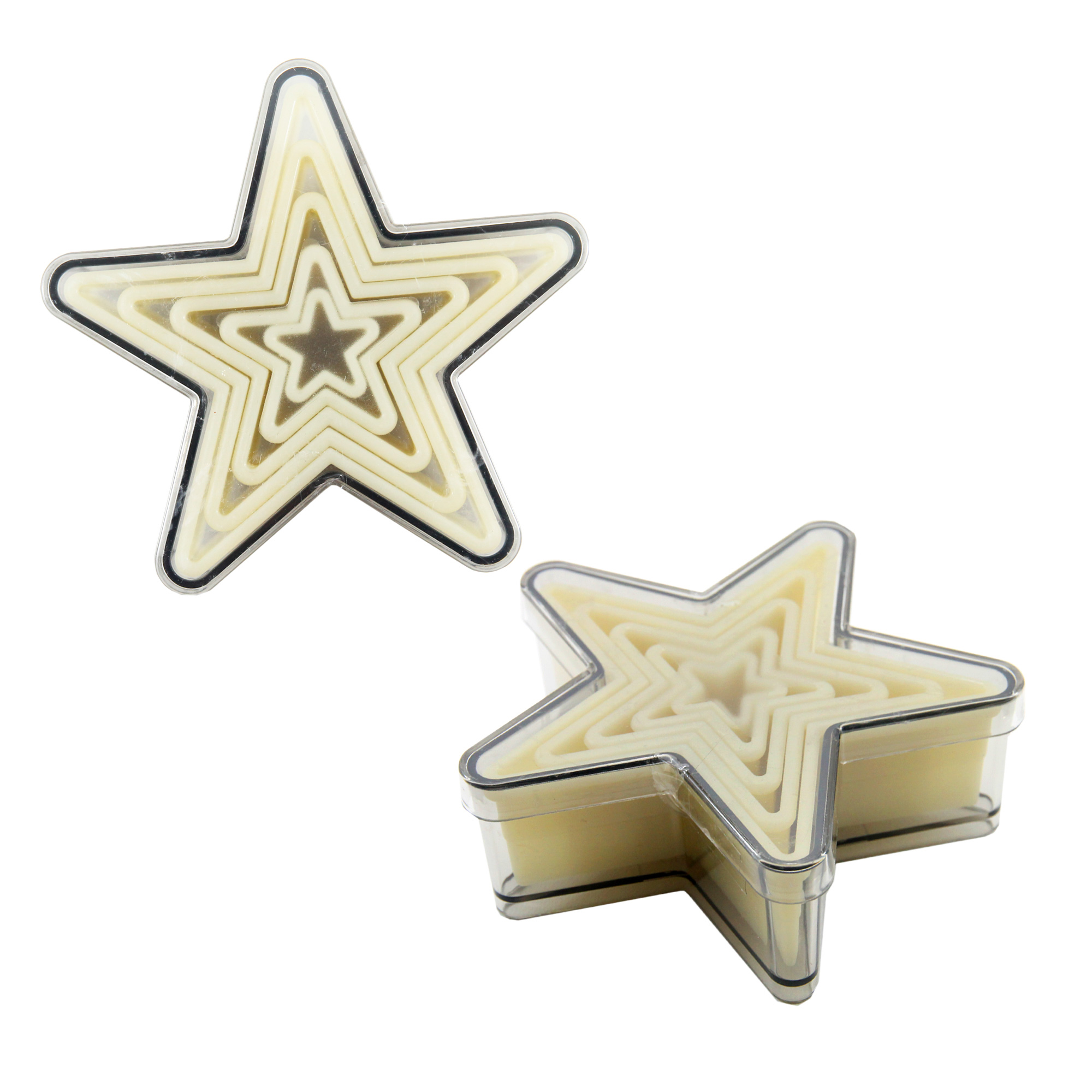 ที่กดคุ้กกี้พลาสติกรูปดาว 9 ชิ้น/set 070242 pa star cn
