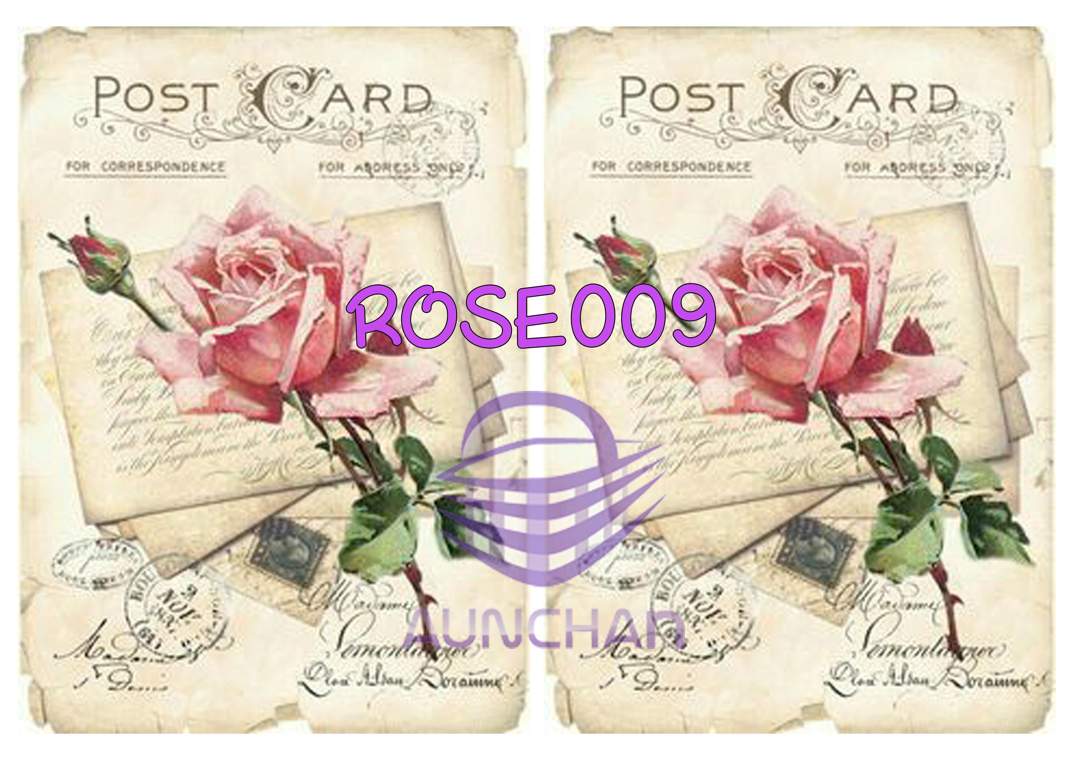ROSE009 กระดาษแนพกิ้น 21x30ซม. ลายกุหลาบ