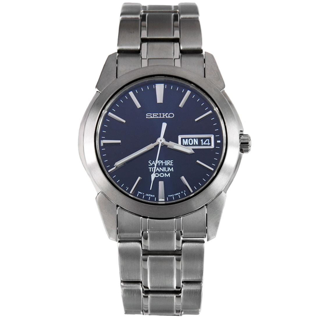 SEIKO Titanium Quartz Sapphire Men's Watch รุ่น SGG729P1