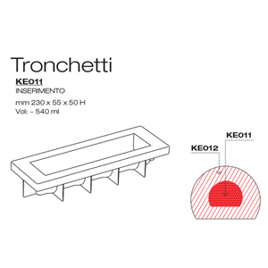 KE011 Mould Pavocake Tronchetto