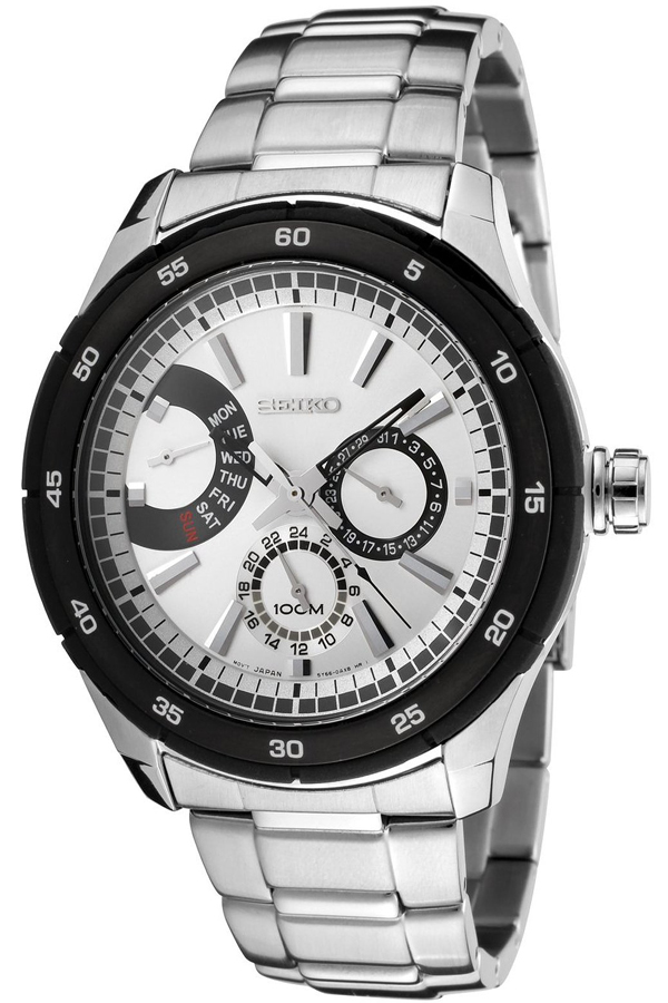Seiko Men's SNT021 Silver Dial Stainless Steel Watch