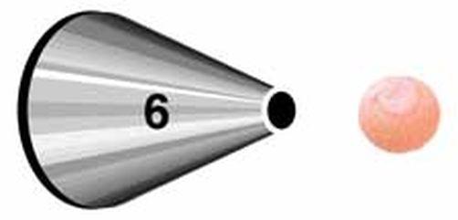 Wilton round No 6 (หัวบีบกลม เบอร์ 6)