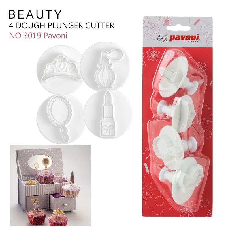 NO3019 Pavoni Dough Cutter Kit Make Up BEAUTY (4 ชิ้น)