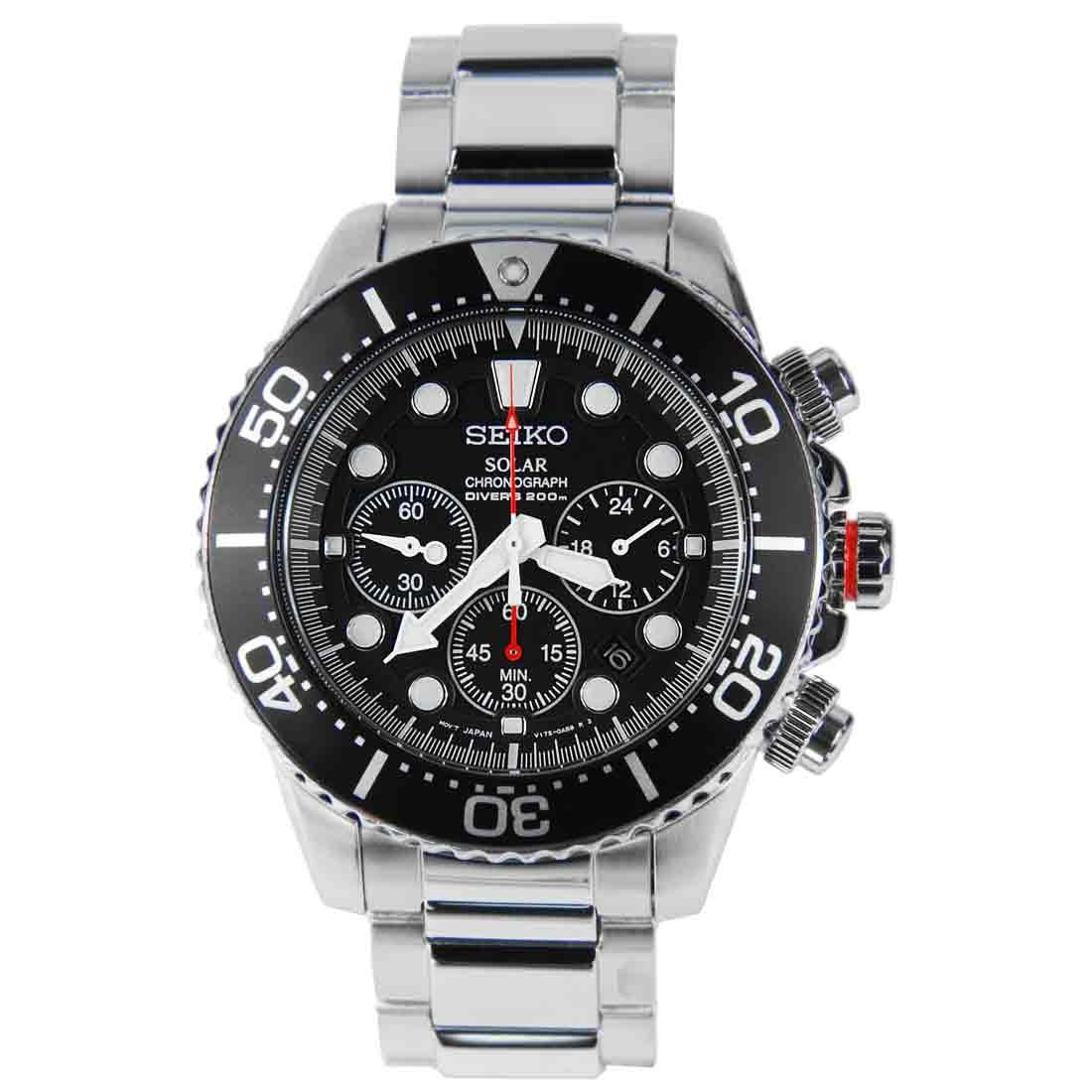 นาฬิกาผู้ชาย SEIKO Solar Chronograph Diver's 200m Men's Watch รุ่น SSC015P1