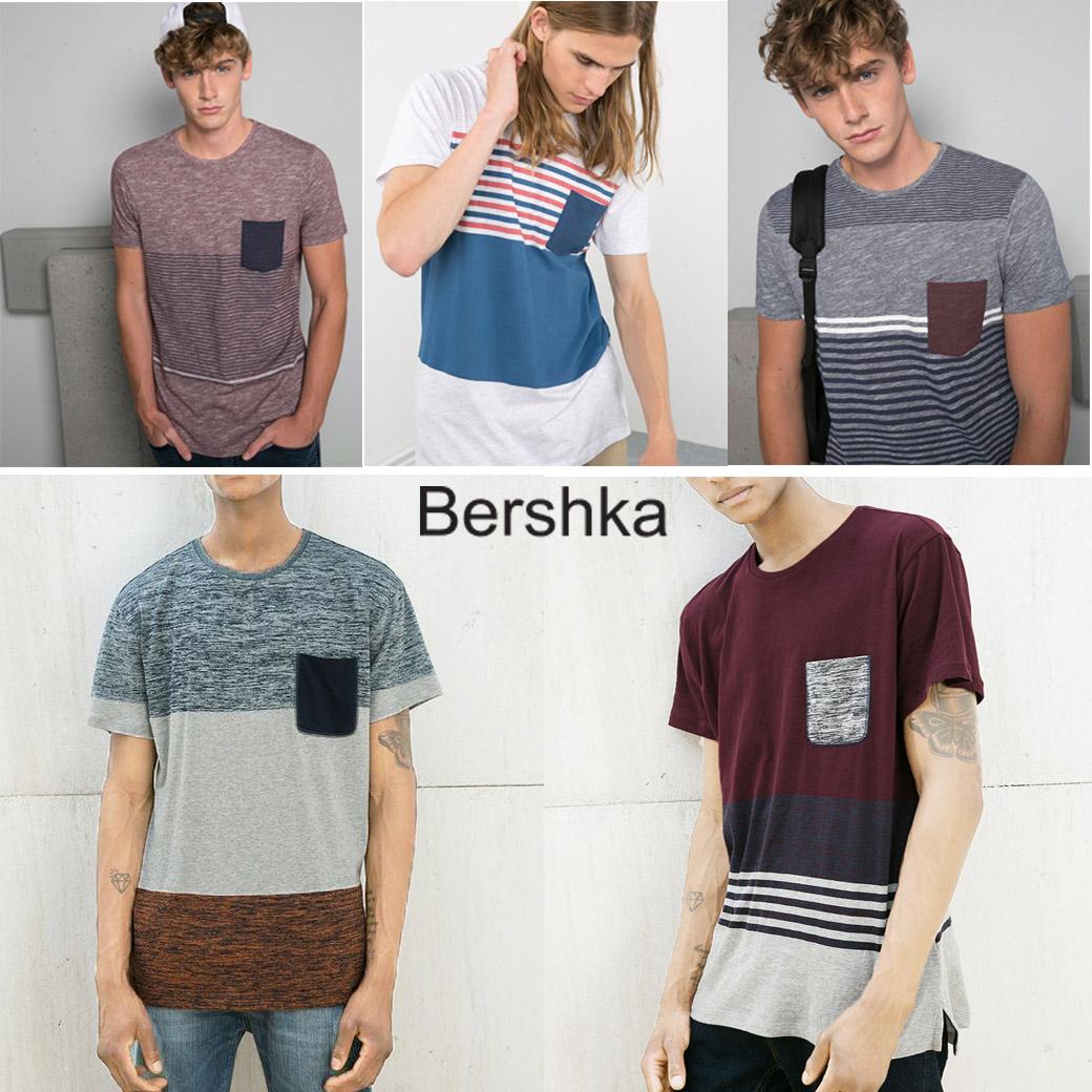 Bershka Men's Pocket Detail T-Shirt ( new update 20-01-17)
