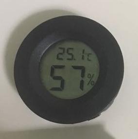 มินิ ไฮโกรมิเตอร์ สีดำกลม (Mini Hygrometer )