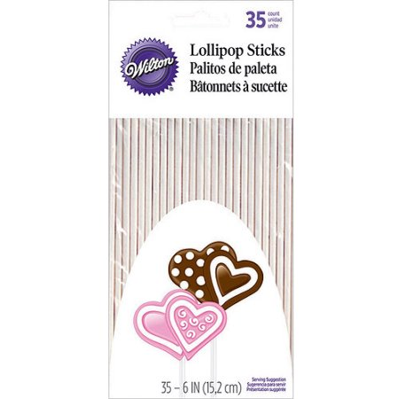 Item# 1912-1007 Lollipop Sticks, 35 ct. (6 นิ้ว)