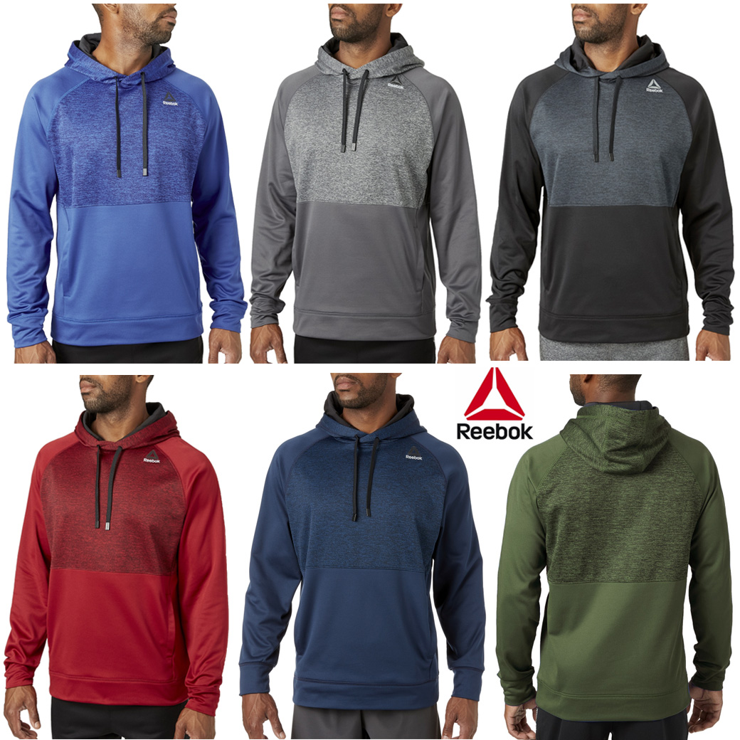 Reebok Perf Fleece Pieced Hoodie