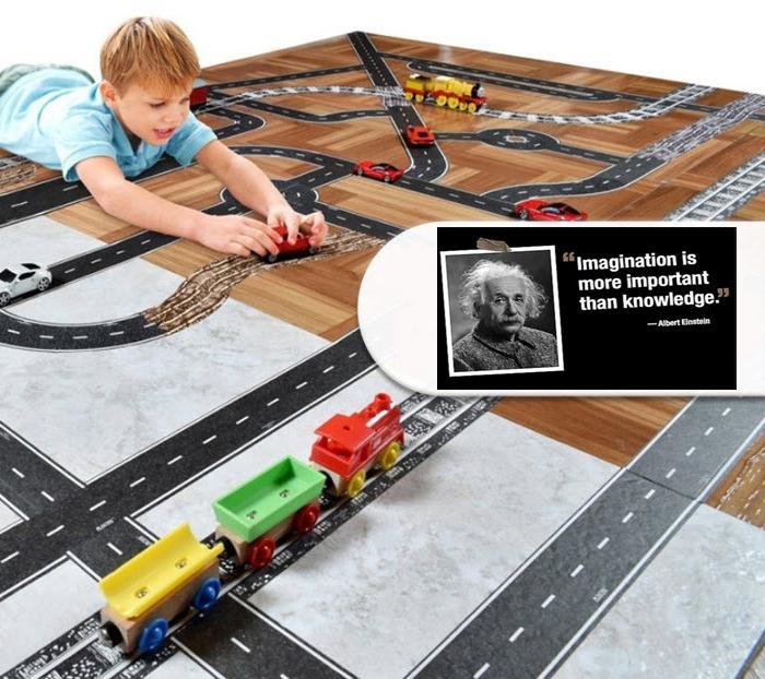 สก็อตเทปลายถนน สร้างโลกแห่งจินตนาการของเด็กๆ Street tape toy ของเล่นเสริมจินตนาการ set 3 แบบ