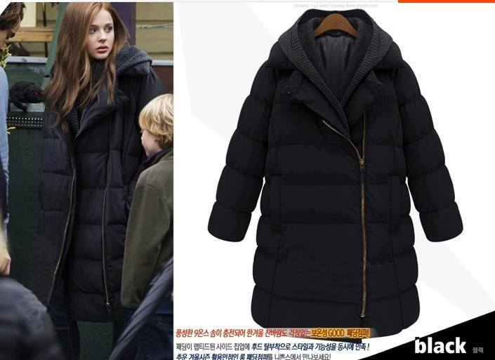 (สีดำ)เสื้อกันหนาวอย่างหนา ตัวยาว หนาวแค่ไหนก็เอาอยู่ อุ่นมากๆแน่นอนค่ะ