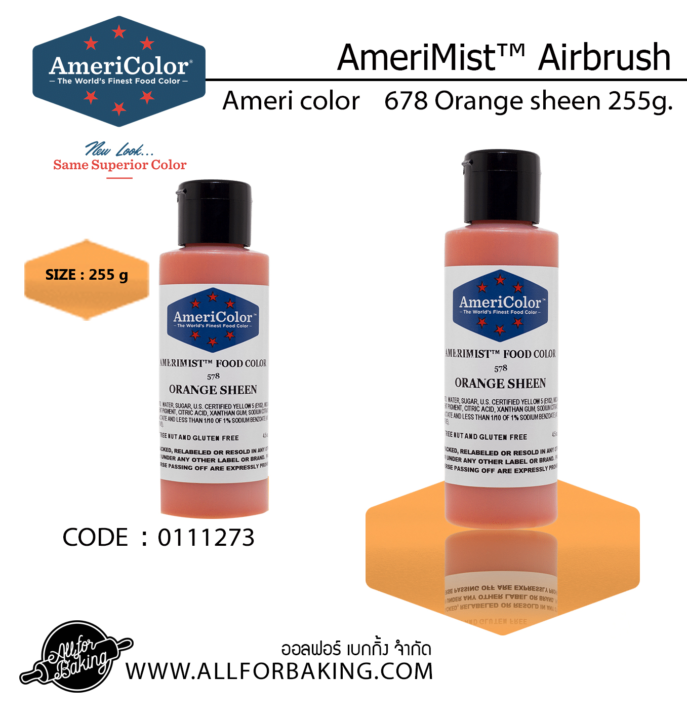 Ameri color 678 Orange sheen 255g.(255 g)