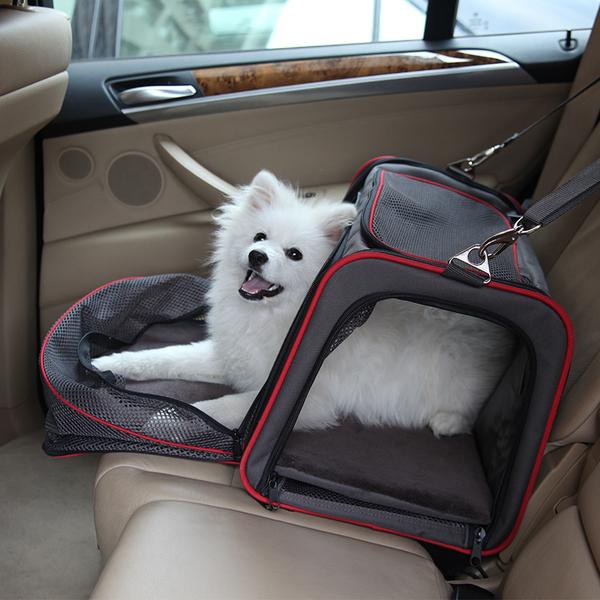 กระเป๋าสุนัข แมว แบบขยายข้างเพิ่มพื้นที่ในกระเป๋า