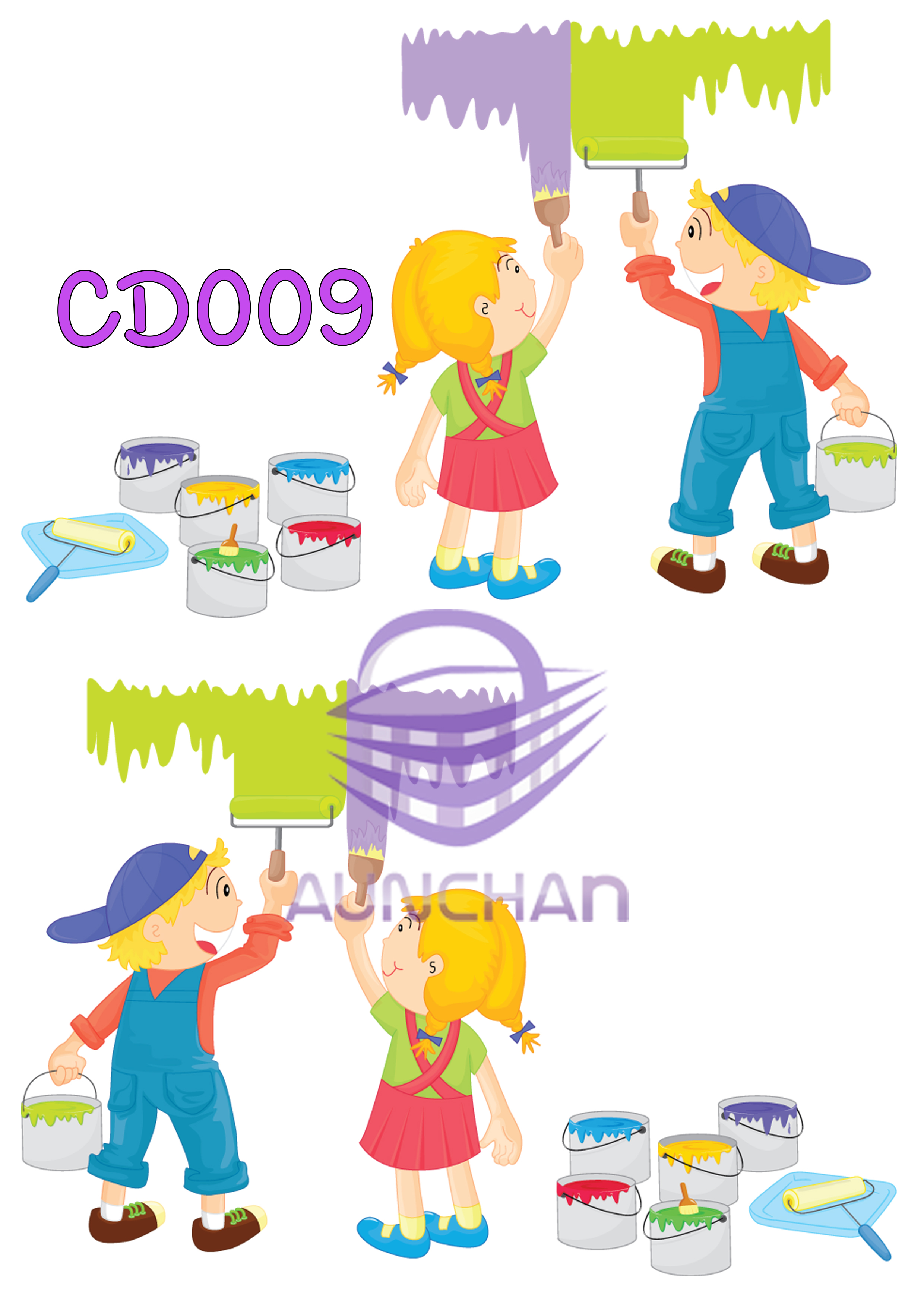 CD009 กระดาษแนพกิ้น 21x30ซม. ลายเด็ก