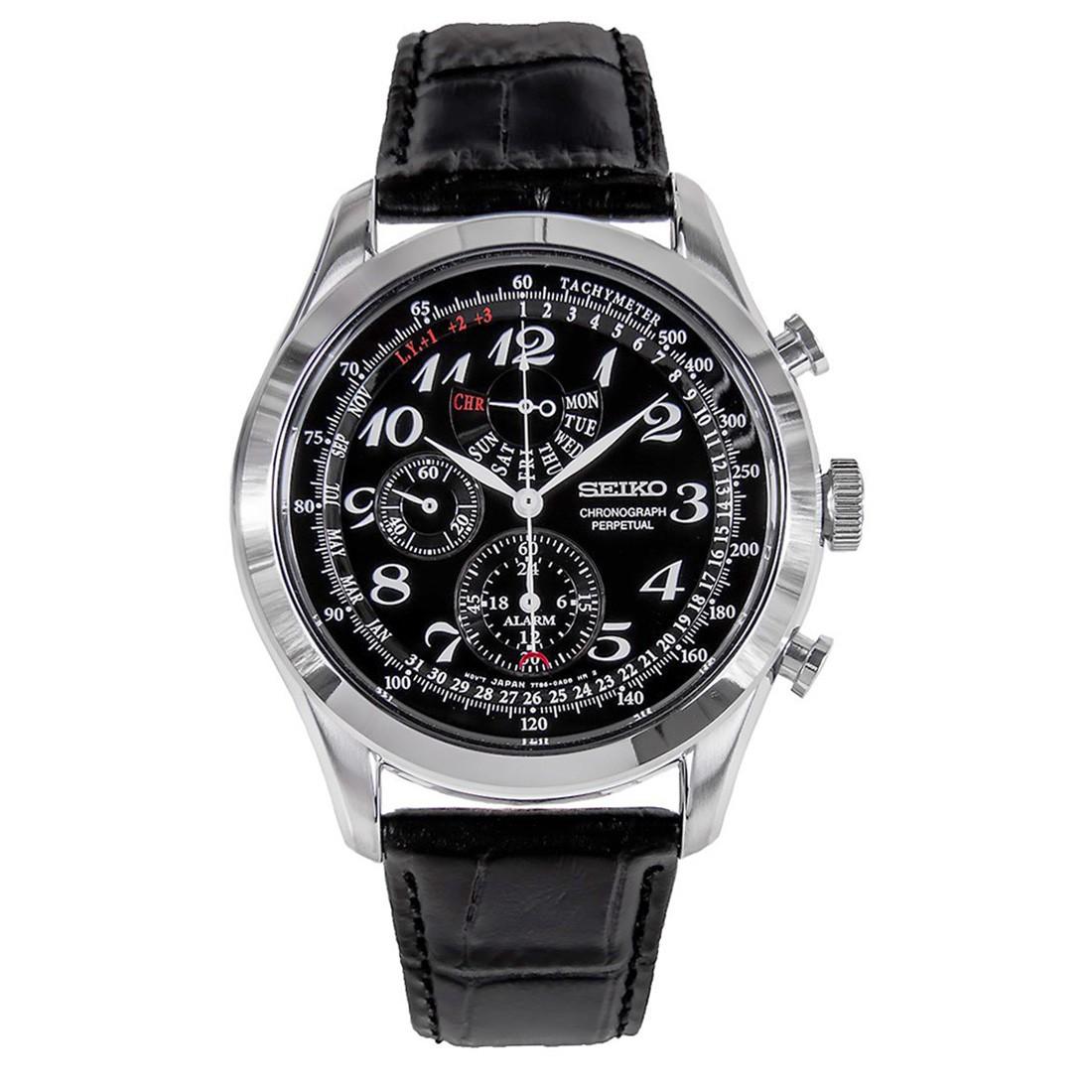 นาฬิกาผู้ชาย Seiko Perpetual Quartz Chronograph Retrograde Men's Watch รุ่น SPC133P1