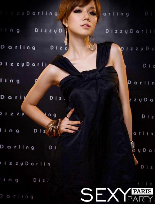 dress ชุดเดรสแฟชั่นใส่ทำงาน ใส่เที่ยว ผ้าซาติน สีดำ สม็อคอกด้านหลัง น่ารัก ใส่ออกงานได้ สวยมากๆ