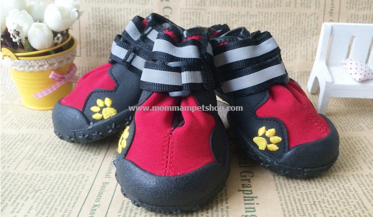 รองเท้าสุนัขโต สีแดง-ดำ (4 ข้าง)