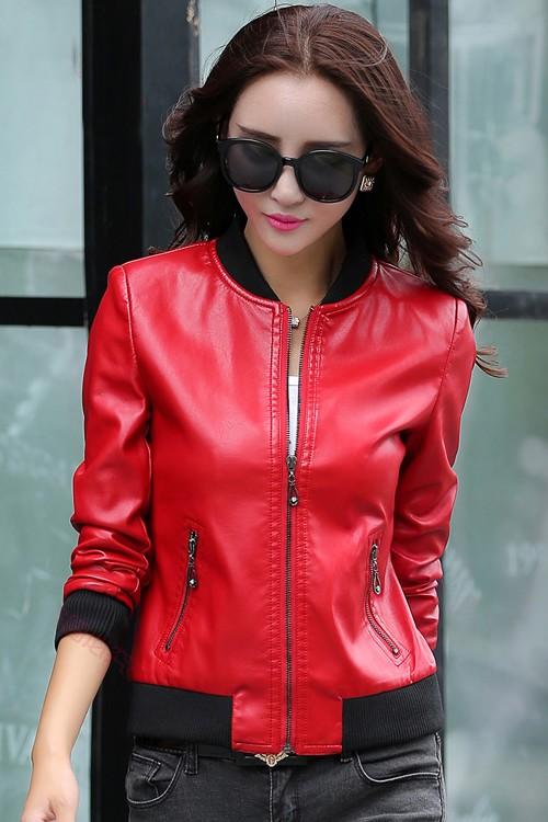เสื้อแจ็คเก็ต เสื้อหนังแฟชั่น พร้อมส่ง สีแดง หนัง PU คุณภาพงานพรีเมี่ยม งานเหมือนแบบ 100 % ค่ะ แขนยาว จั้มช่วงเอวและแขนเสื้อ ซิบหน้า มีซับใน สุดเท่ห์สุดๆ หนังนิ่ม ใส่สบาย