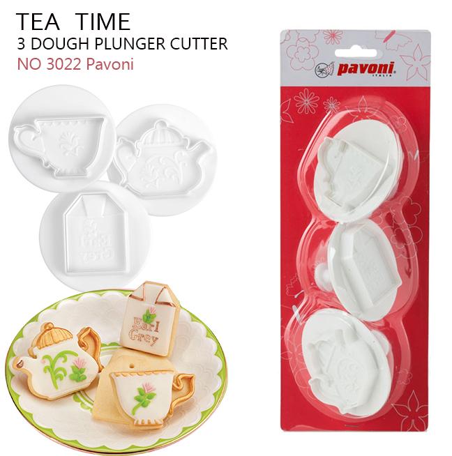 NO 3022 Pavoni Dough Cutter TEA TIME (3ชิ้น)