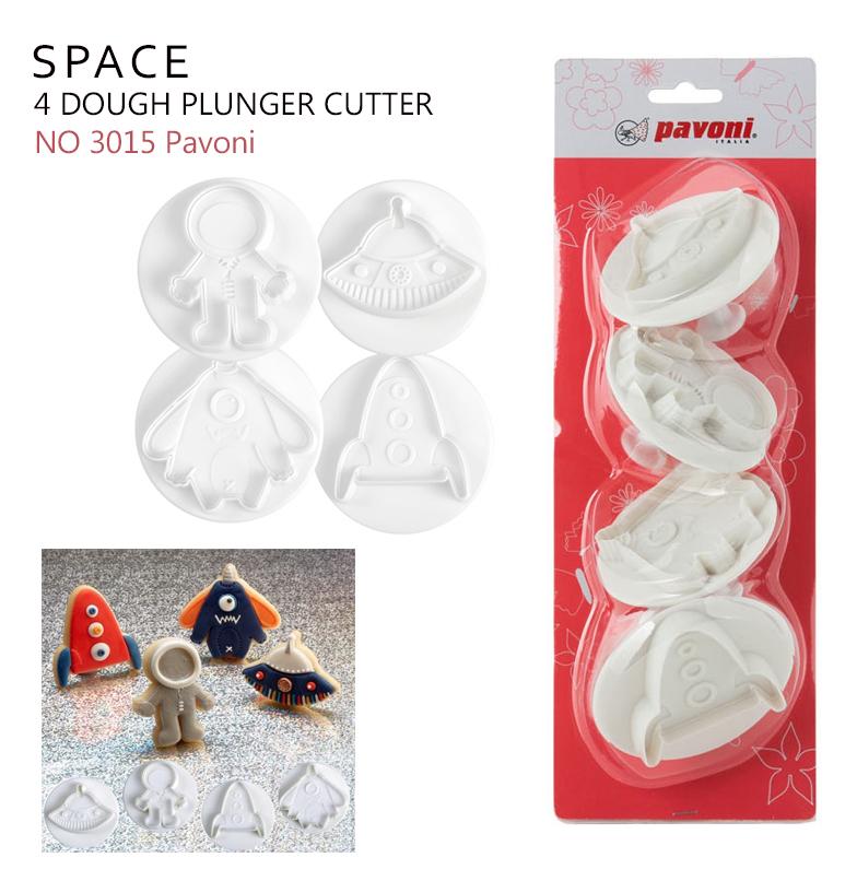 NO3015 Pavoni Dough Cutter Kit SPACE (4 ชิ้น)