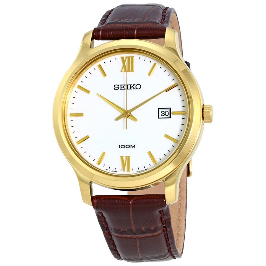 Seiko นาฬิกาข้อมือ สายหนังแท้รุ่น SUR226P1