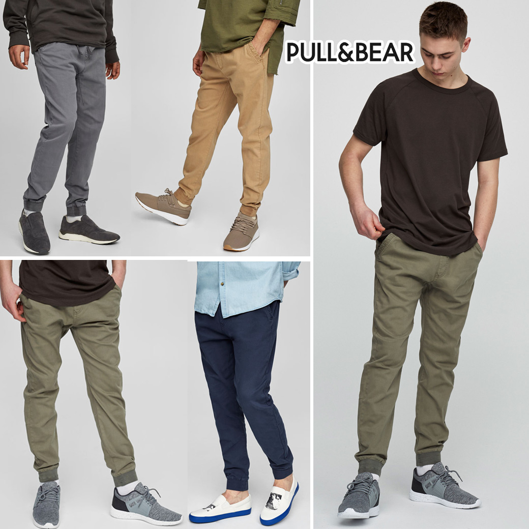 Pull & Bear Faded Colours Beach-Style Trousers