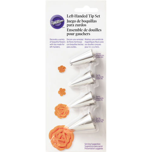#418-9615 LEFT-HANDED DECORATORS FLOWER ICING TIP SET