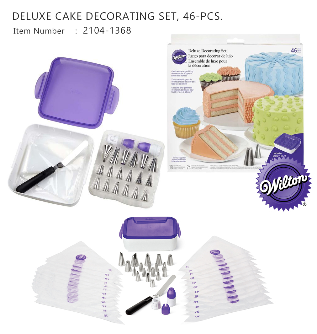 Wilton 46 PC Deluxe Cake Decorating Piping Set (Wilton 2104-1368)