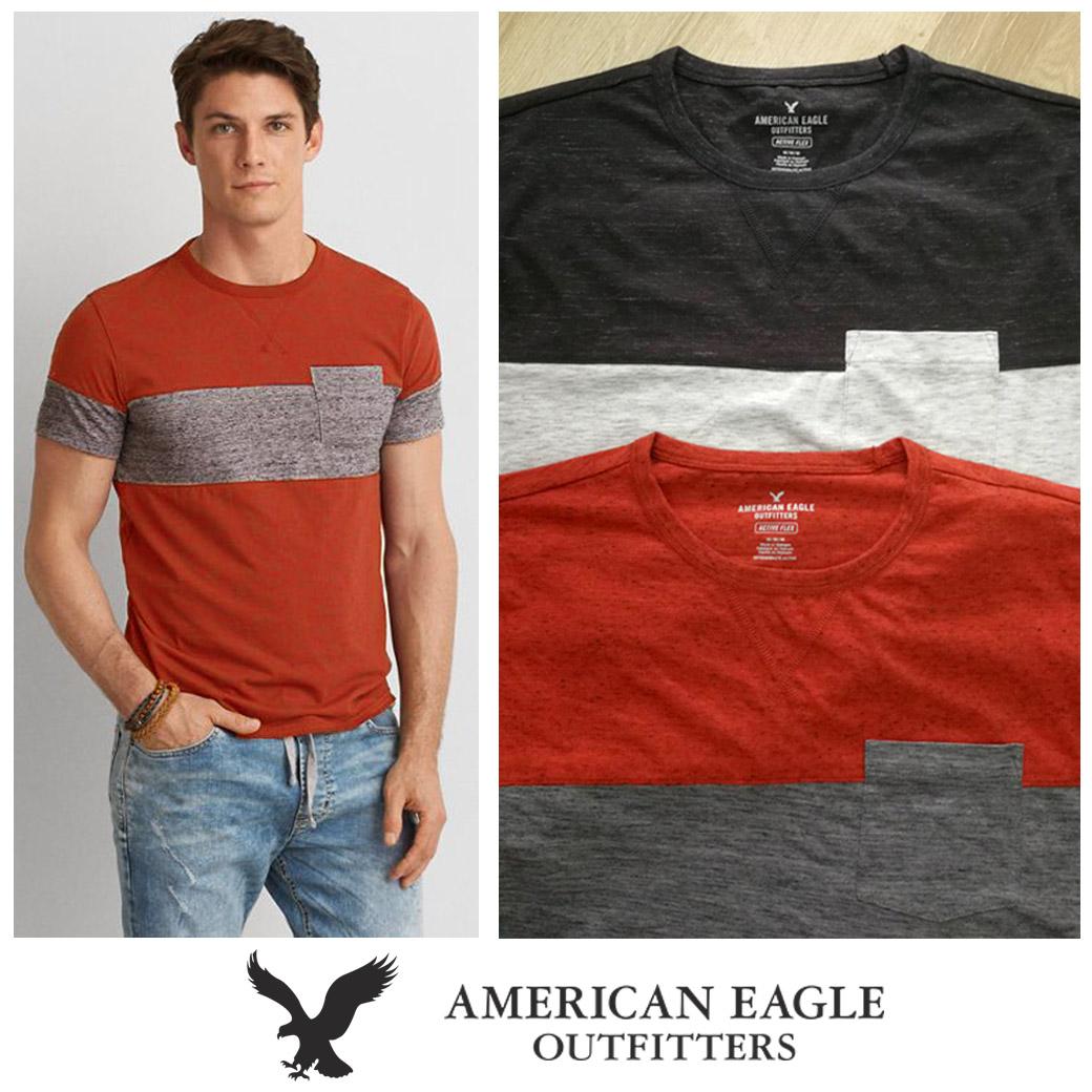 American Eagle Active Flex Colorblock T-Shirt