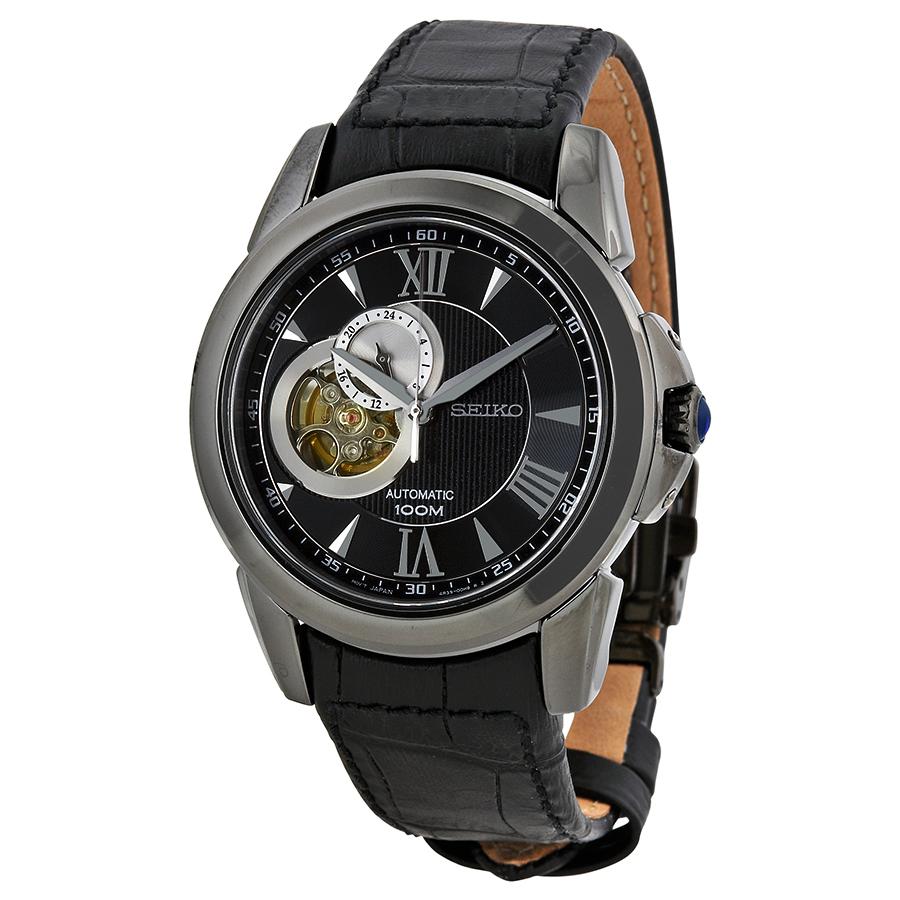 Seiko Men's SSA243 Analog Display Japanese Quartz Black Watch