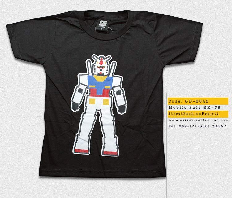 T-Shirt เสื้อยืดเด็ก เสื้อยืดกันดั้ม Mobie Suit Gundam (Zaku II) สุดเท่ห์ สีเทาเข้ม จากร้าน GUNZU เสื้อยืดเด็ก!! Asia Street Fashion
