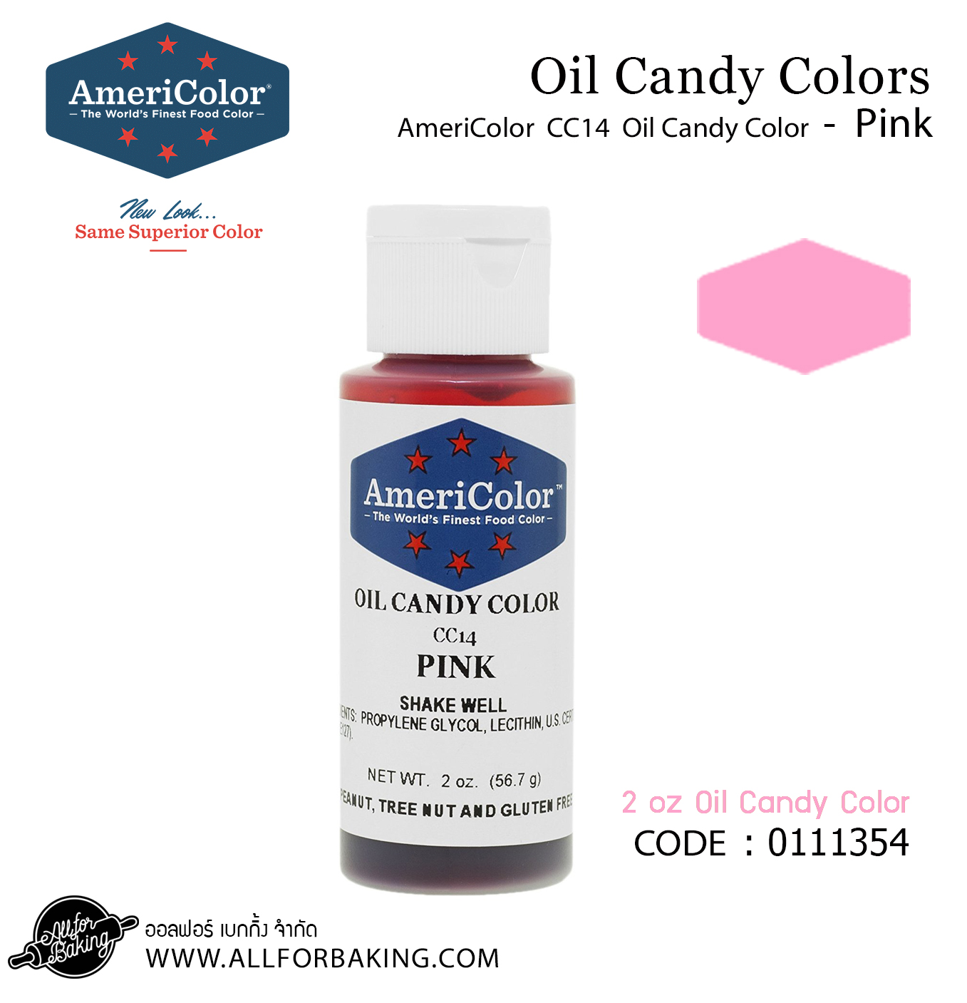 Ameri color CC14 oil candy Pink 2 oz