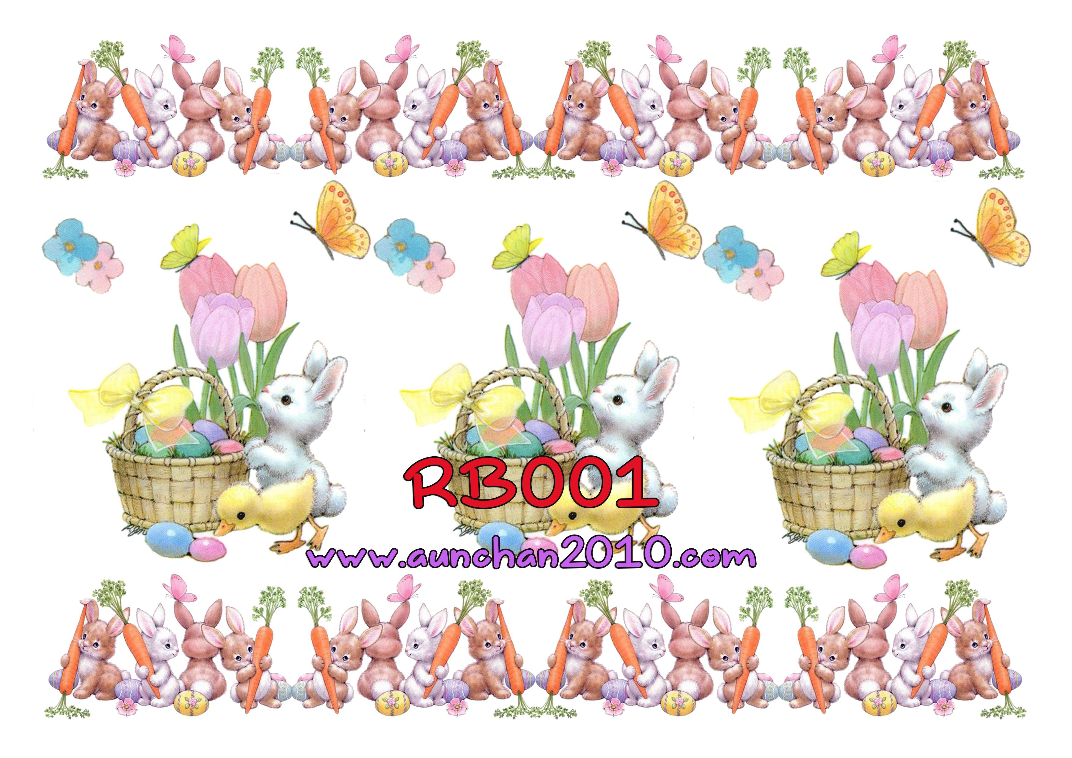 RB001 กระดาษแนพกิ้น 21x30ซม. ลายกระต่าย