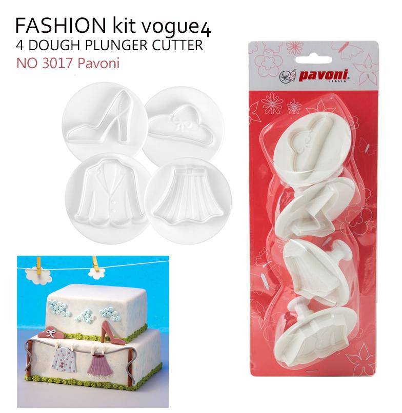 NO 3017 Pavoni Dough Cutter FASHION kit vogue4 หมวก/ เสื้อ /กระโปรง / รองเท้า (4ชิ้น)