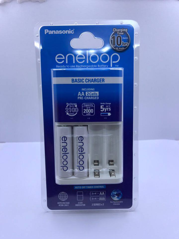 Eneloop Basic Charger 2 Cells (10hrs)